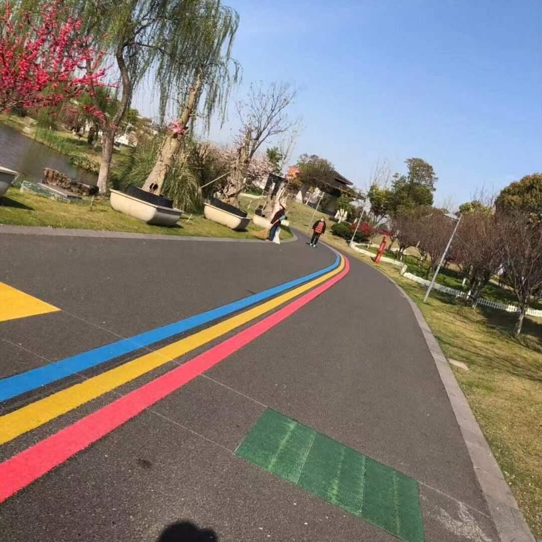 小区彩虹热熔线